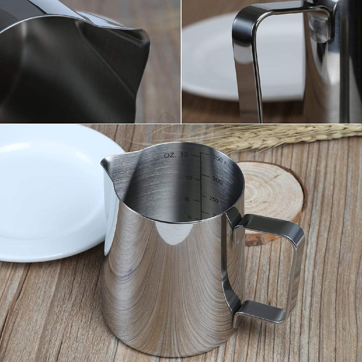 GWHOLE(ジホール)ミルクピッチャー ステンレス製 350ml シルバーの商品画像6