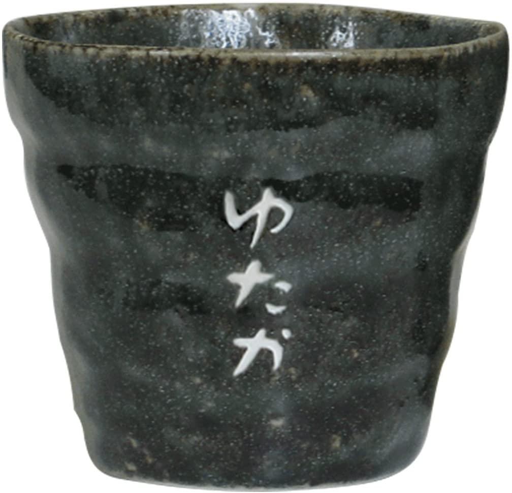 きざむ 名入れ美濃焼ごろりん焼酎ロックカップ 緑釉の商品画像