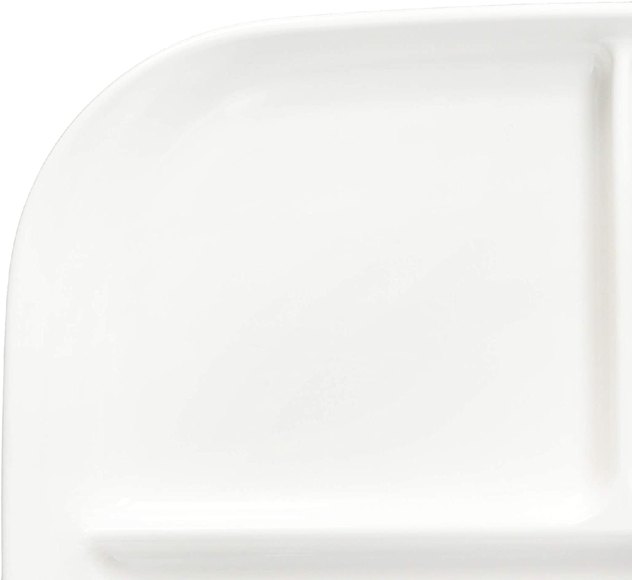 パール金属(PEARL) あつかいやすい仕切付スクエアプレート(ホワイト) K-6388の商品画像4