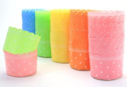 天満紙器(テンマシキ)カラー マフィンカップ M(ドット5色) 各20枚入 アソート CMAdotAS-100の商品画像