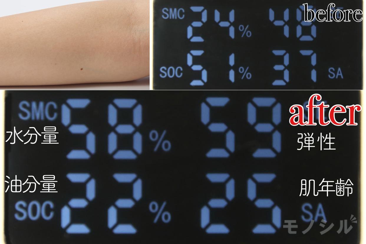 AYURA(アユーラ) リズムコンセントレートウォーターの商品画像5 商品の保湿効果の高さ検証
