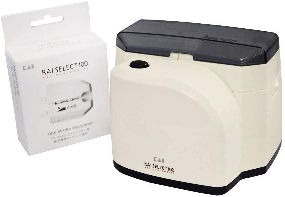 貝印(KAI) シャープナー (包丁研ぎ器) SELECT100 ワンストローク ホワイト AP0133の商品画像