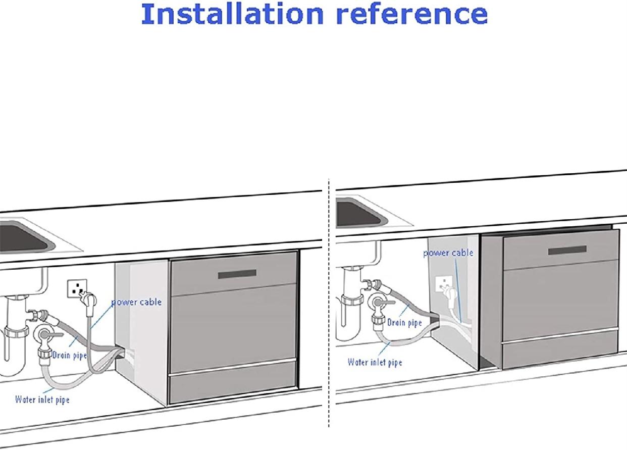 グオダシタンセン ビルトイン食器洗い乾燥機 ホワイトの商品画像7