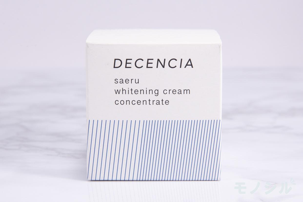 DECENCIA(ディセンシア)サエル ホワイトニング クリーム コンセントレートの商品外箱の画像