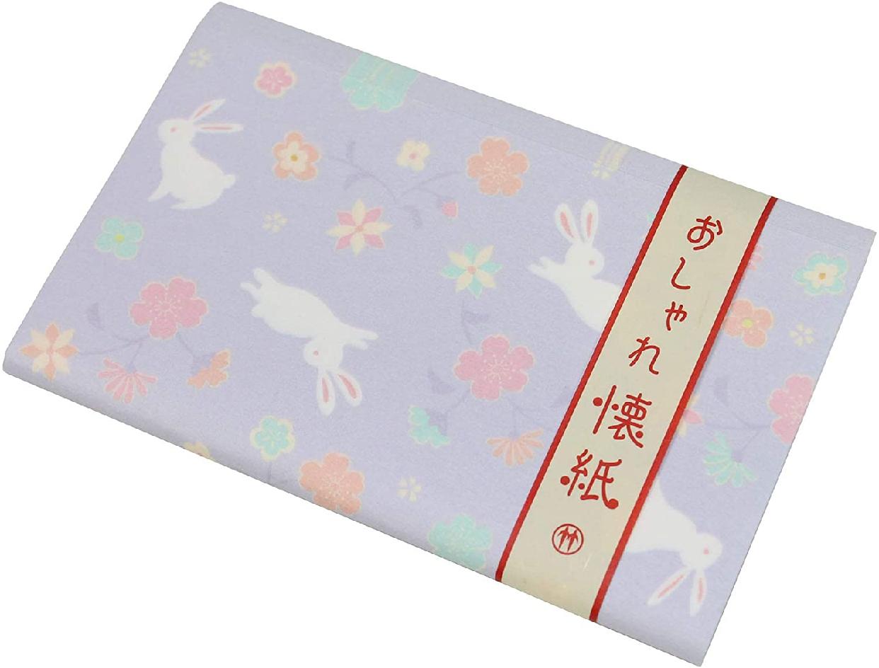 クロチク おしゃれ懐紙 花兎 紫の商品画像2