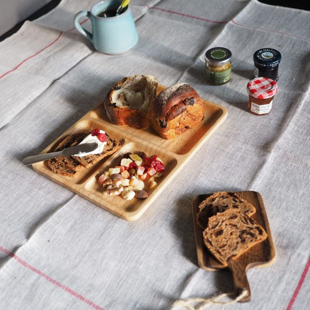 ACACIA(アカシア)CAFE PLATE SQUARE L ナチュラルの商品画像3