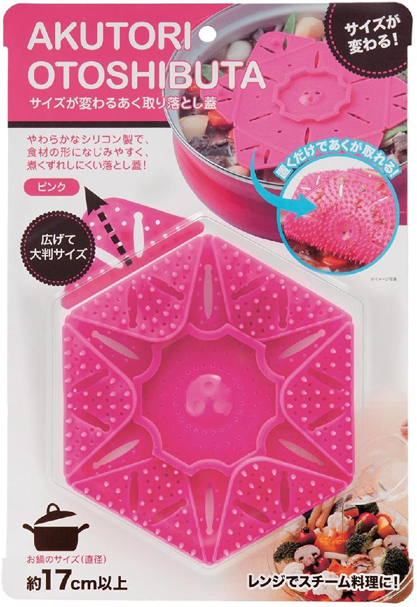 SUN FAMILY(サンファミリー)サンファミリー サイズが変わる あく取り落とし蓋 ピンクの商品画像