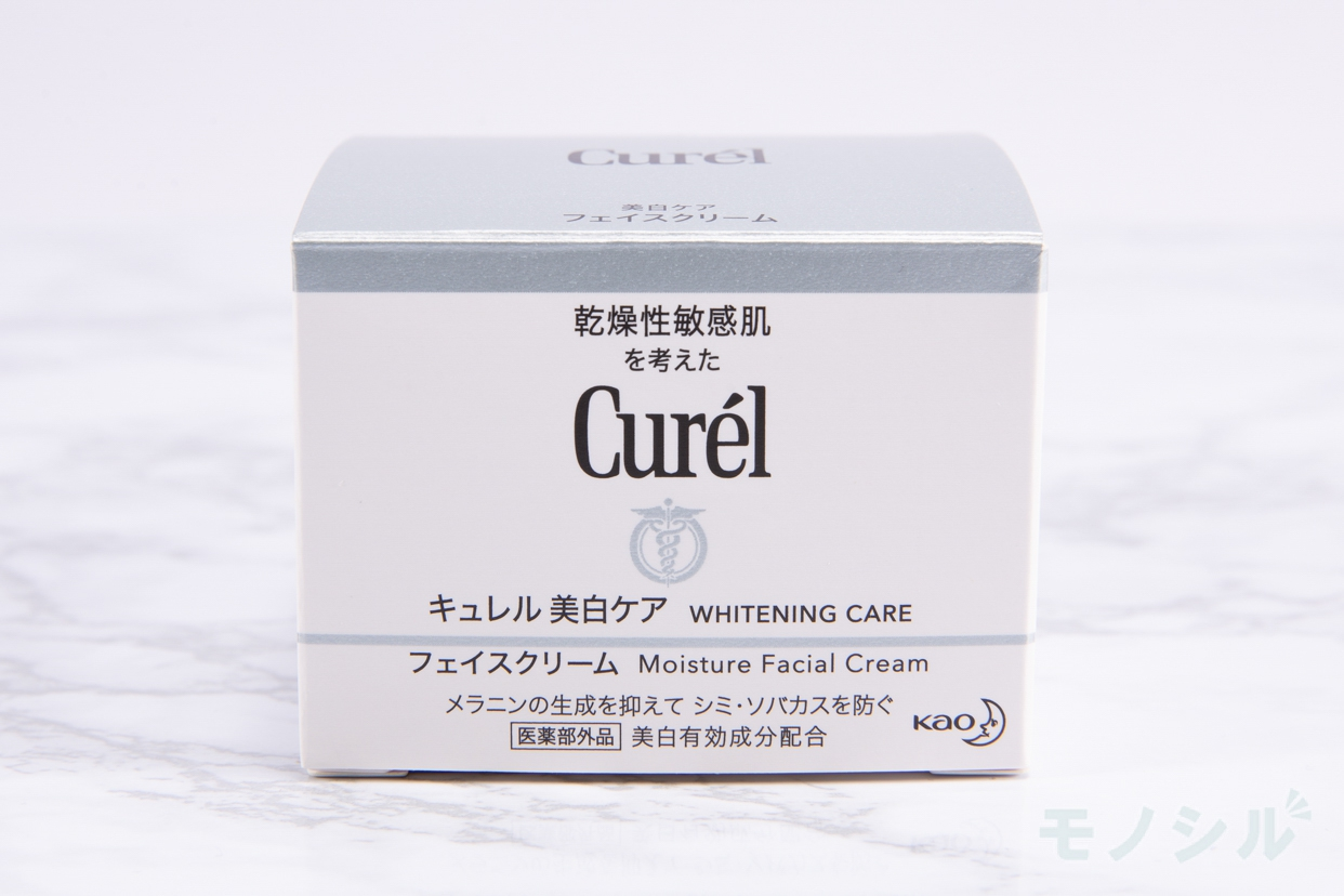 Curél(キュレル) 美白ケア フェイスクリームの商品外箱の画像