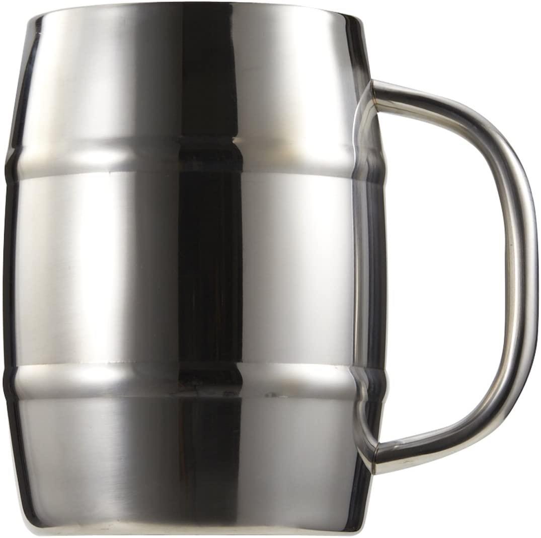CAPTAIN STAG(キャプテンスタッグ) ビールジョッキ ダブルステンレス 樽型 1.0L UH2001の商品画像
