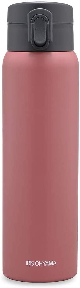 IRIS OHYAMA(アイリスオーヤマ) ステンレスケータイボトル ワンタッチ SB-O500 アッシュピンクの商品画像