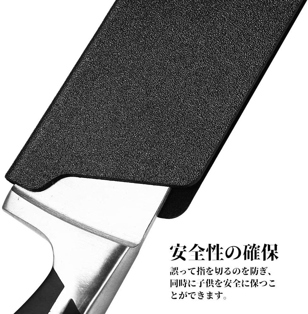 OUNONA(オウノナ) 包丁ケース ナイフシース ナイフカバー プラスチック 黒 2個セット 安全用品の商品画像6