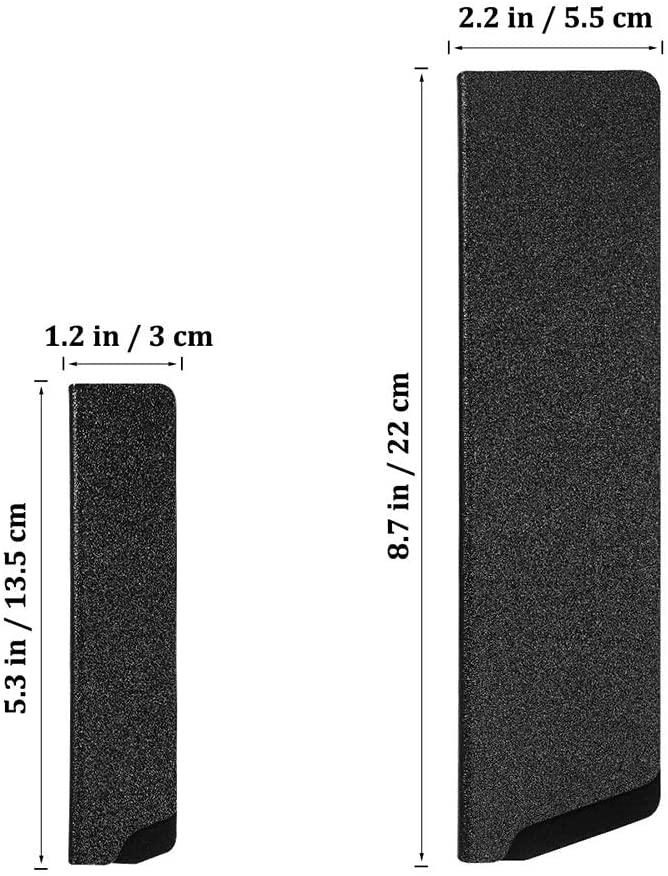 OUNONA(オウノナ) 包丁ケース ナイフシース ナイフカバー プラスチック 黒 2個セット 安全用品の商品画像3