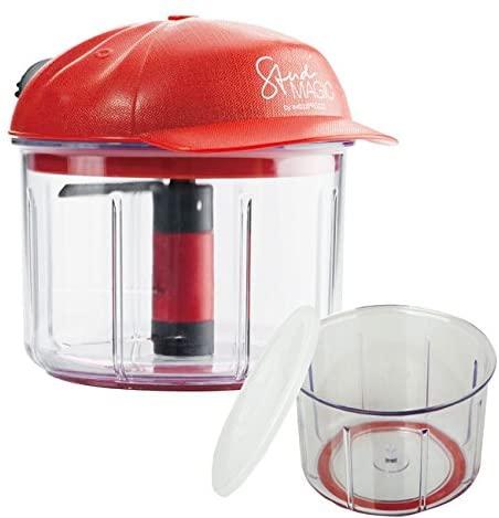 Swizzz Prozzz(スウィッツプロッツ)ビュンビュンチョッパー 本体セット+便利なフタ付き専用別容器セット レッドの商品画像