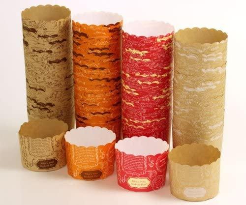 天満紙器(テンマシキ)マフィンカップ M(ロゴ4色) 各25枚入 アソート WEBMAS-100の商品画像