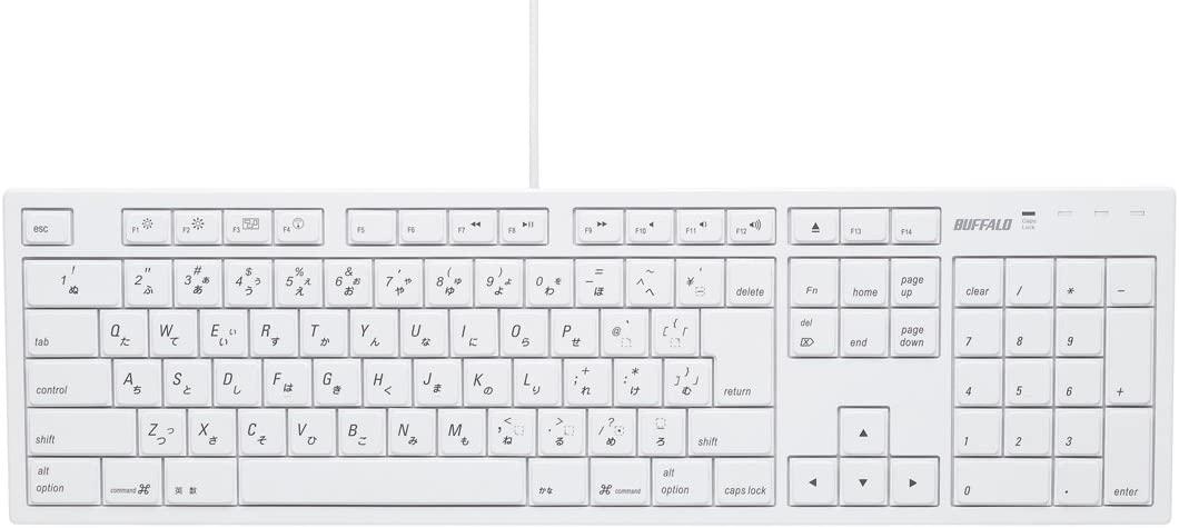 BUFFALO(バッファロー) キーボード BSKBM01WHの商品画像2