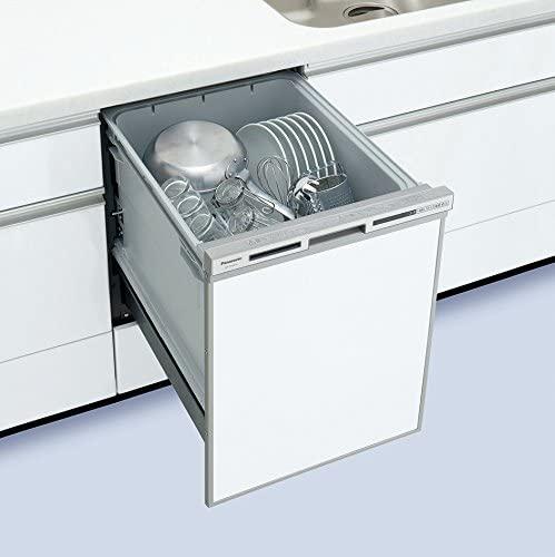 Panasonic(パナソニック) ビルトイン食器洗い乾燥機 幅45cm FULLオープン V7シリーズ /ディープ NP-45VD7S(シルバー)の商品画像