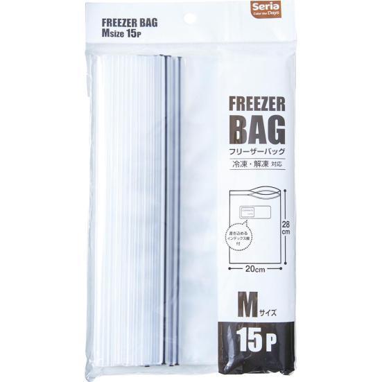 Seria(セリア) フリーザーバッグ Mの商品画像