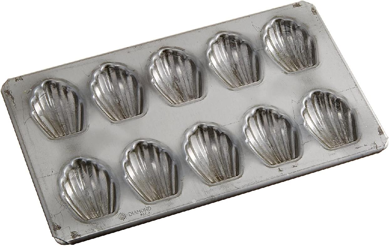 新考社(シンコウシャ) マドレーヌ貝 (型10個付) シルバー イ-119の商品画像