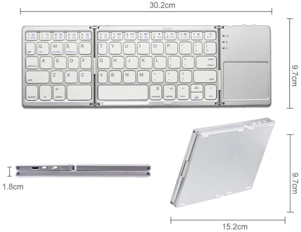 Agenstar(アジェンスター) 折りたたみ式 Bluetoothキーボード GZ-BCKTP3Dの商品画像6