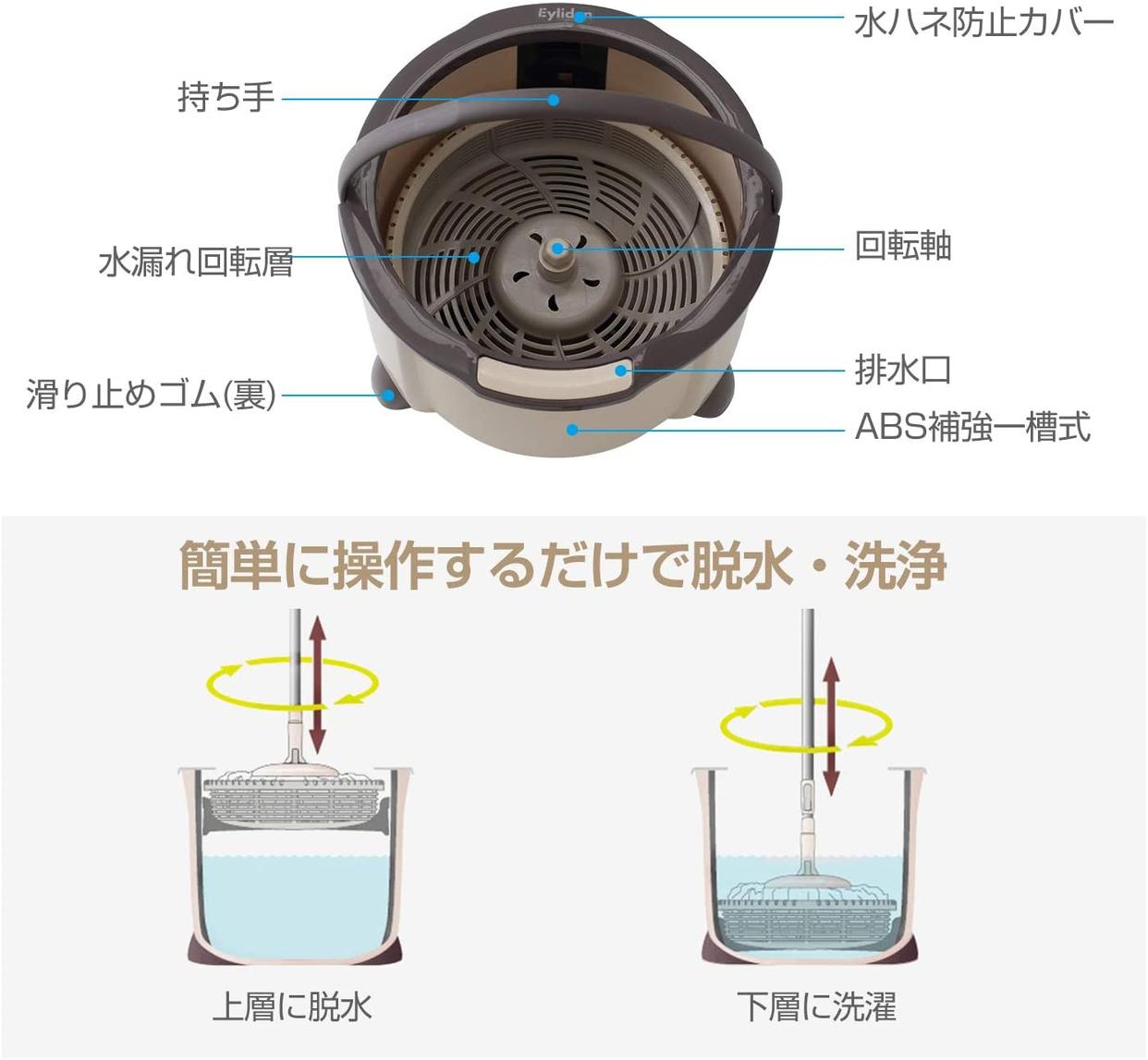 Eyliden(エリデン) 回転モップ XZ-01の商品画像4