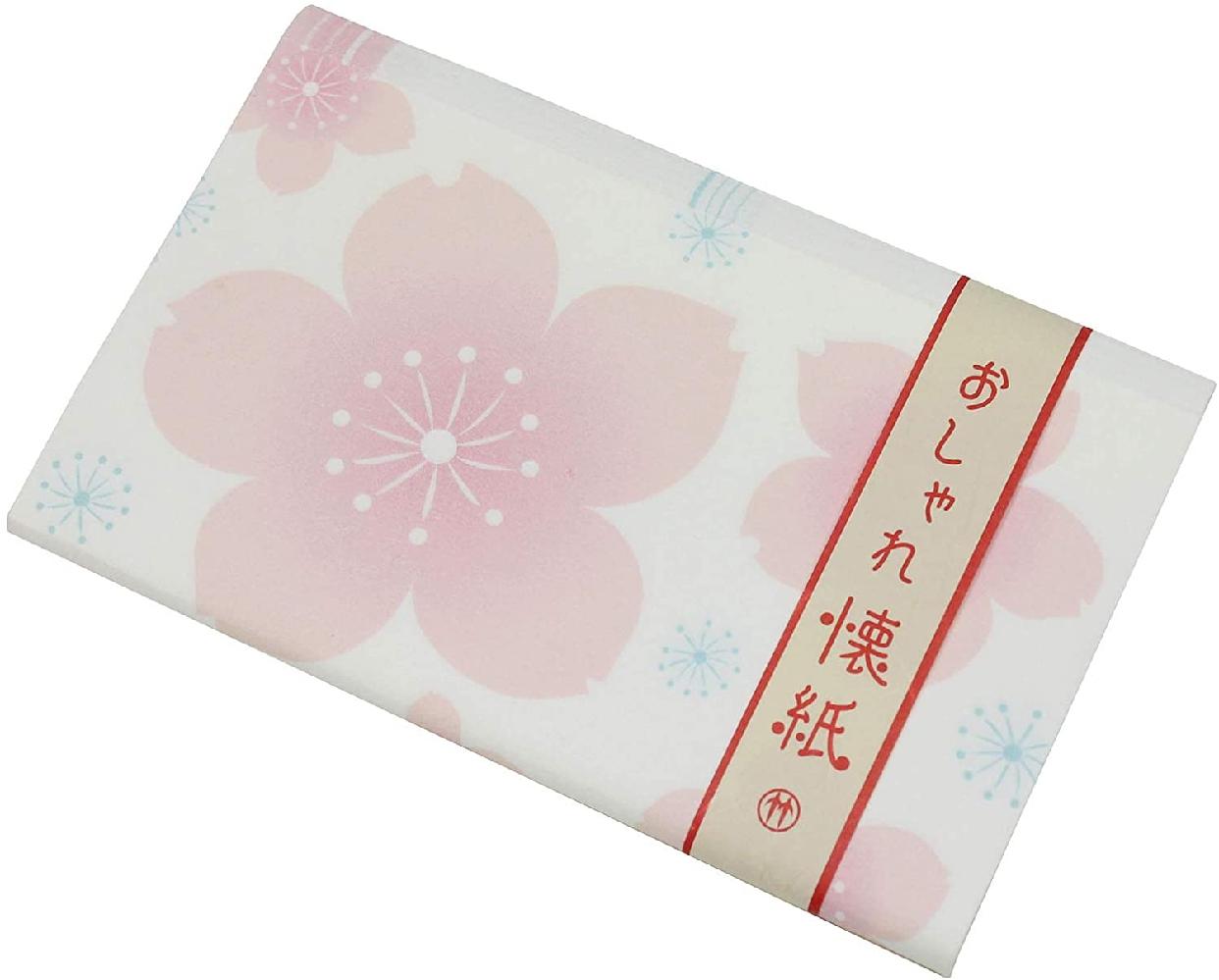 クロチク おしゃれ懐紙 桜 71306713 白の商品画像2