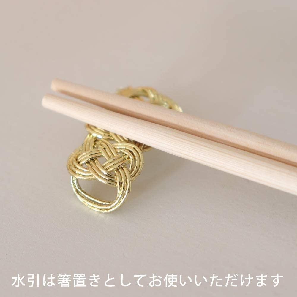 medetaya modern(メデタヤモダン)水引祝箸 金 3膳入 24cmの商品画像2