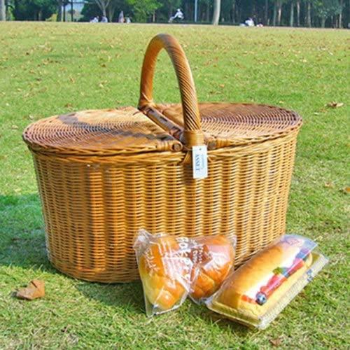 ラッセル籐かご・ラタンバスケット・ピクニック ブラウン 621の商品画像2