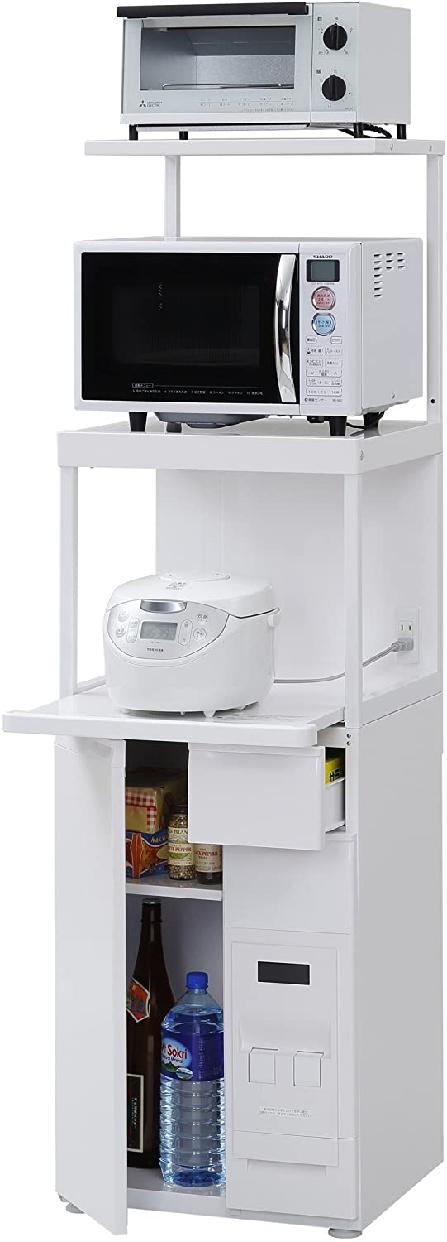 ファインキッチンレンジ台 幅50cm 米びつ付 SKU-311Wの商品画像3