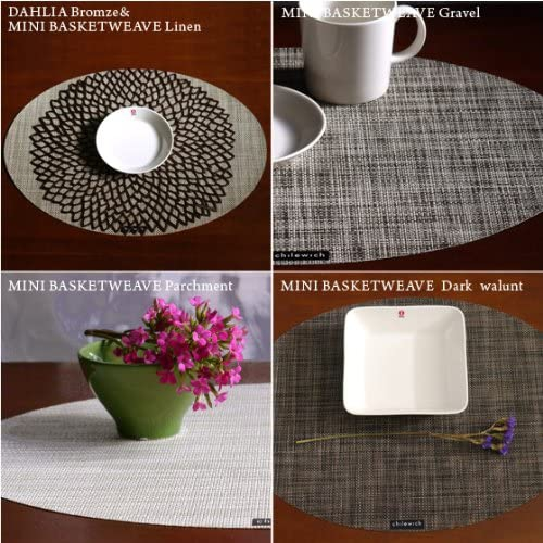 Chilewich(チルウィッチ)MINI BASKETWEAVE オーバル型 Linenの商品画像2