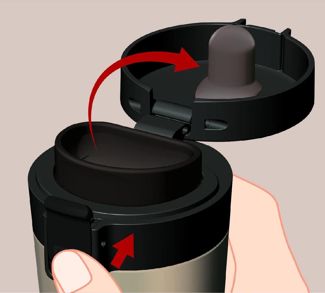 ASVEL(アスベル) 真空断熱携帯タンブラー 290ml シャンパンゴールドの商品画像4