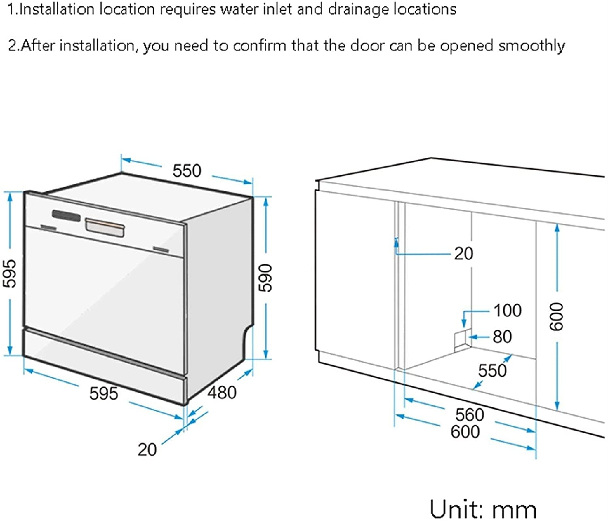 グオダシタンセン ビルトイン食器洗い乾燥機 ホワイトの商品画像8