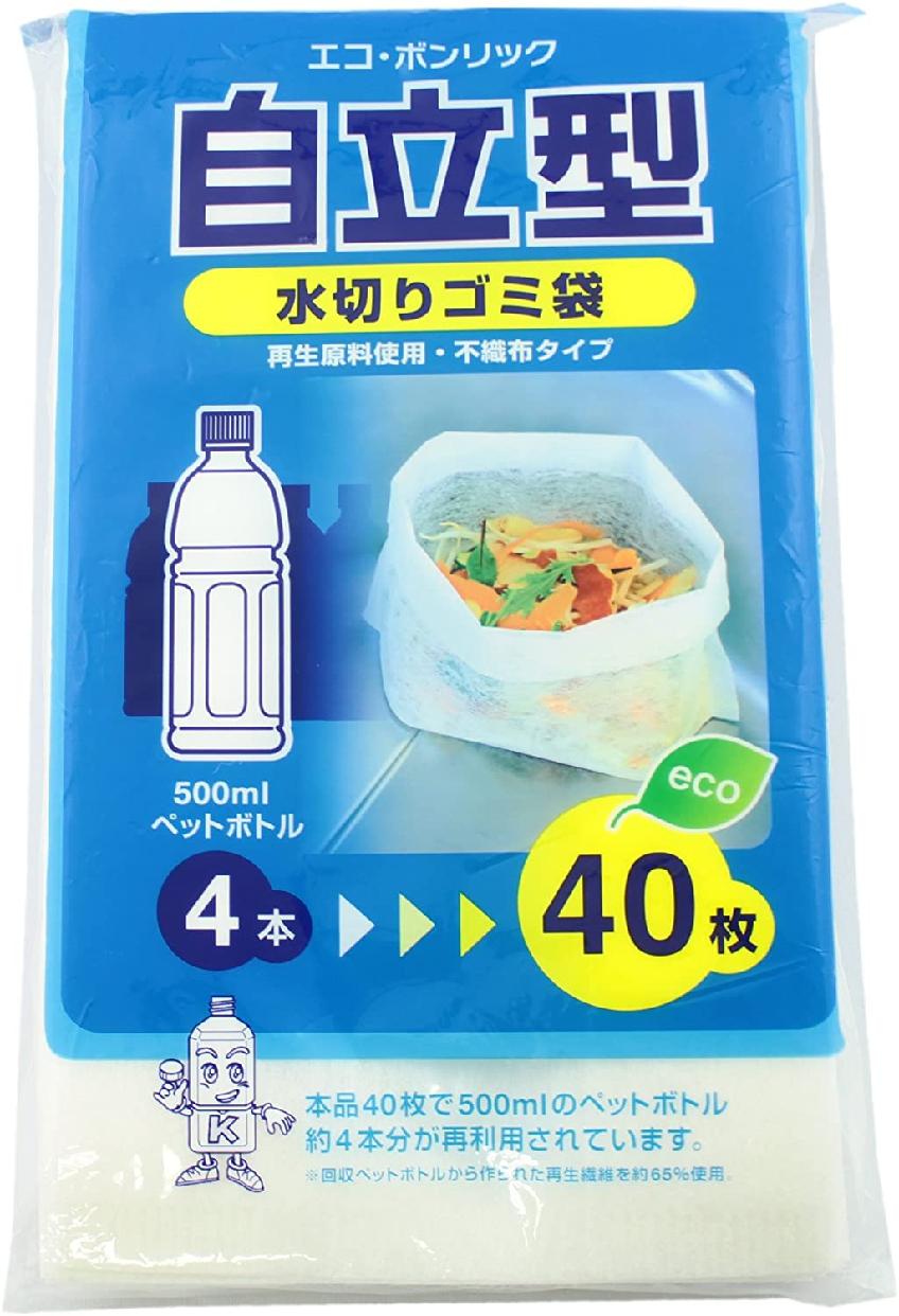 金星製紙(きんせいせいし)水切り ゴミ袋 三角コーナーいらず 自立型 40枚入り 白