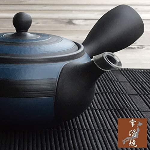 MANMOS VILLAGE(マンモスヴィレッジ) お茶が美味しくなる 常滑焼 急須 藍炭  青の商品画像3