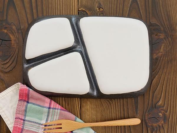K'sキッチン(ケーズキッチン) 粉引 スタックランチプレート ブラック 22.7cmの商品画像4
