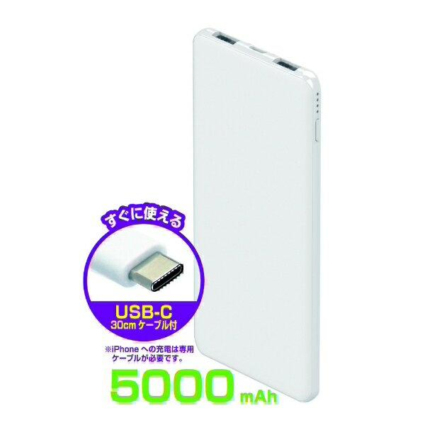 Kashimura(カシムラ) モバイルバッテリー5000mAh type-C WH AJ-603の商品画像2