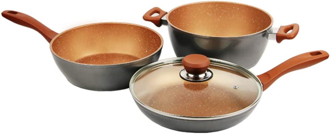 Flavor Stone(フレーバーストーン)鍋フライパン4点セット ブロンズゴールドの商品画像
