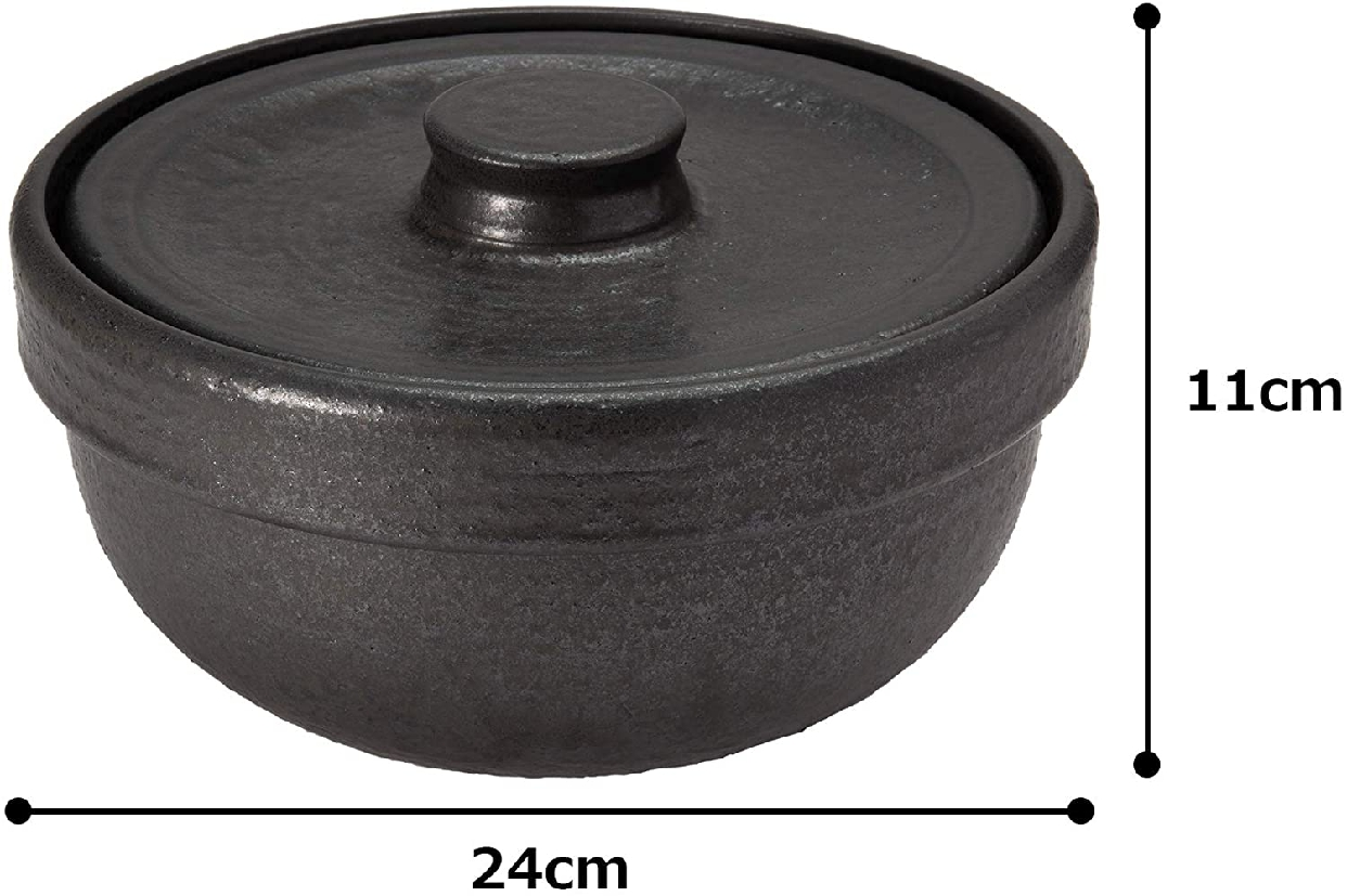 男厨 無水土鍋 ブラック NAZ-01の商品画像5