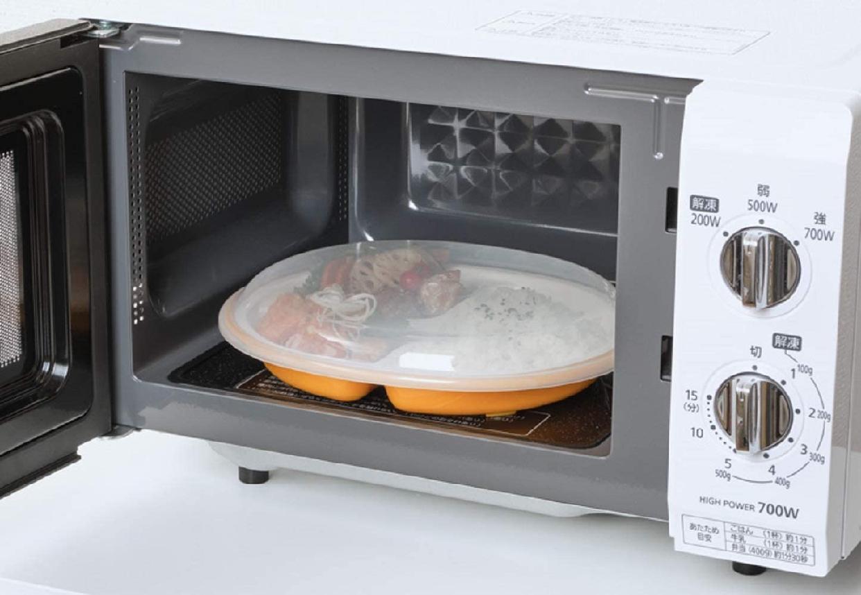 楽弁(ラクベン)フタ付ランチプレート(丸)オレンジの商品画像5