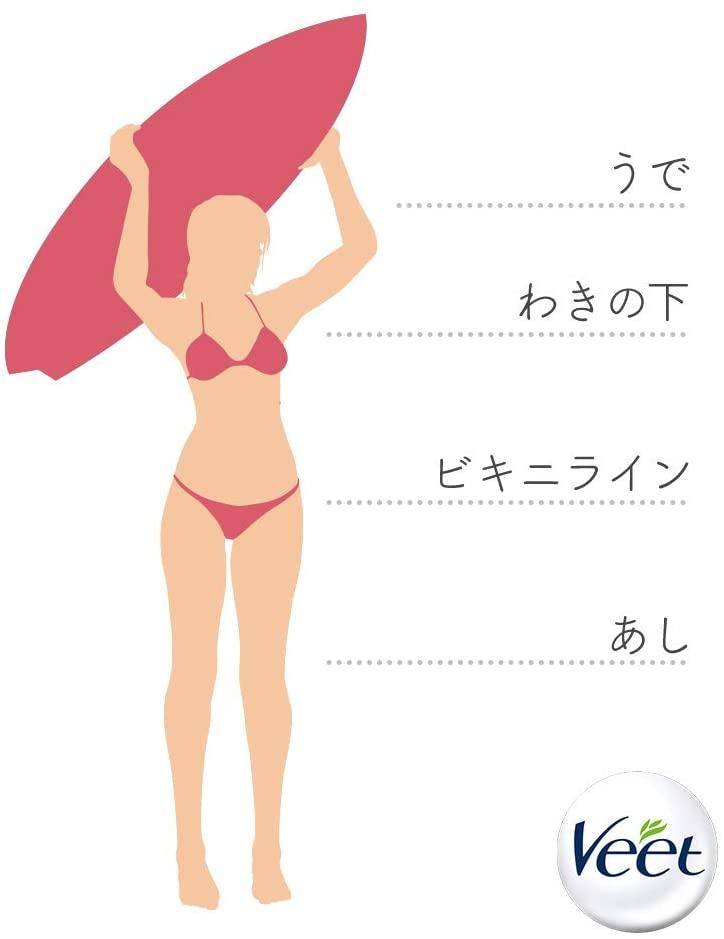 Veet(ヴィート)脱毛ワックスシート 敏感肌用の商品画像6