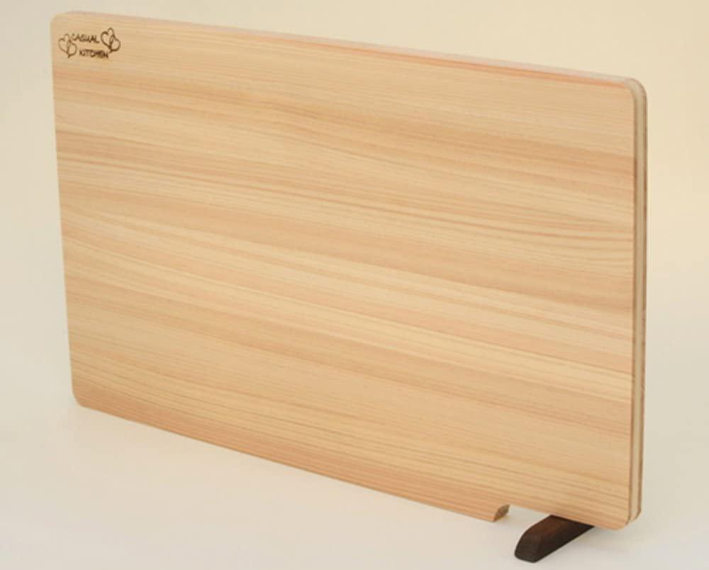 CASUAL KITCHEN(キャッスルキッチン)スタンド付きひのきまな板39cm NB1002の商品画像2
