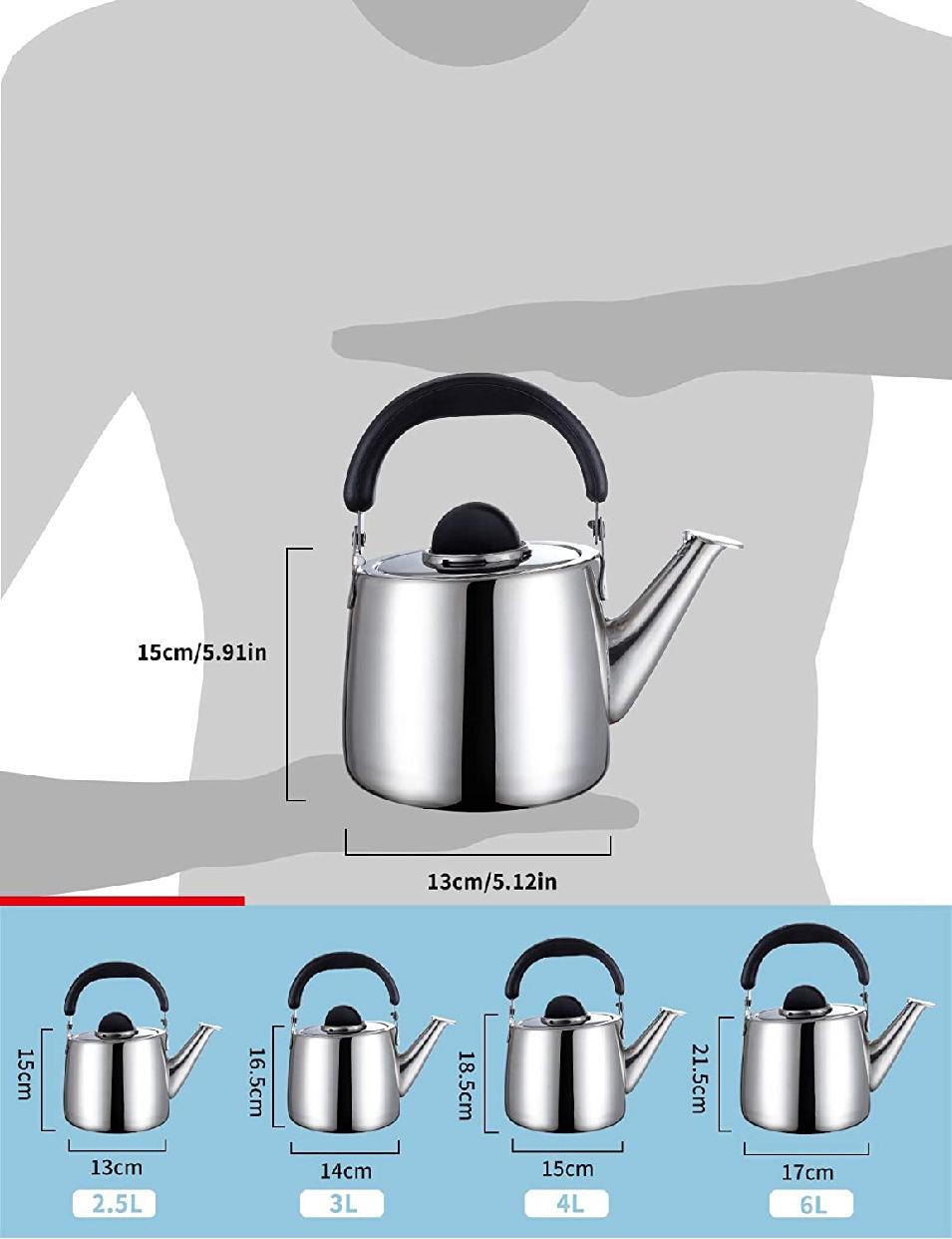 鎌倉陶器 笛ふきケットル 2.5Lの商品画像6