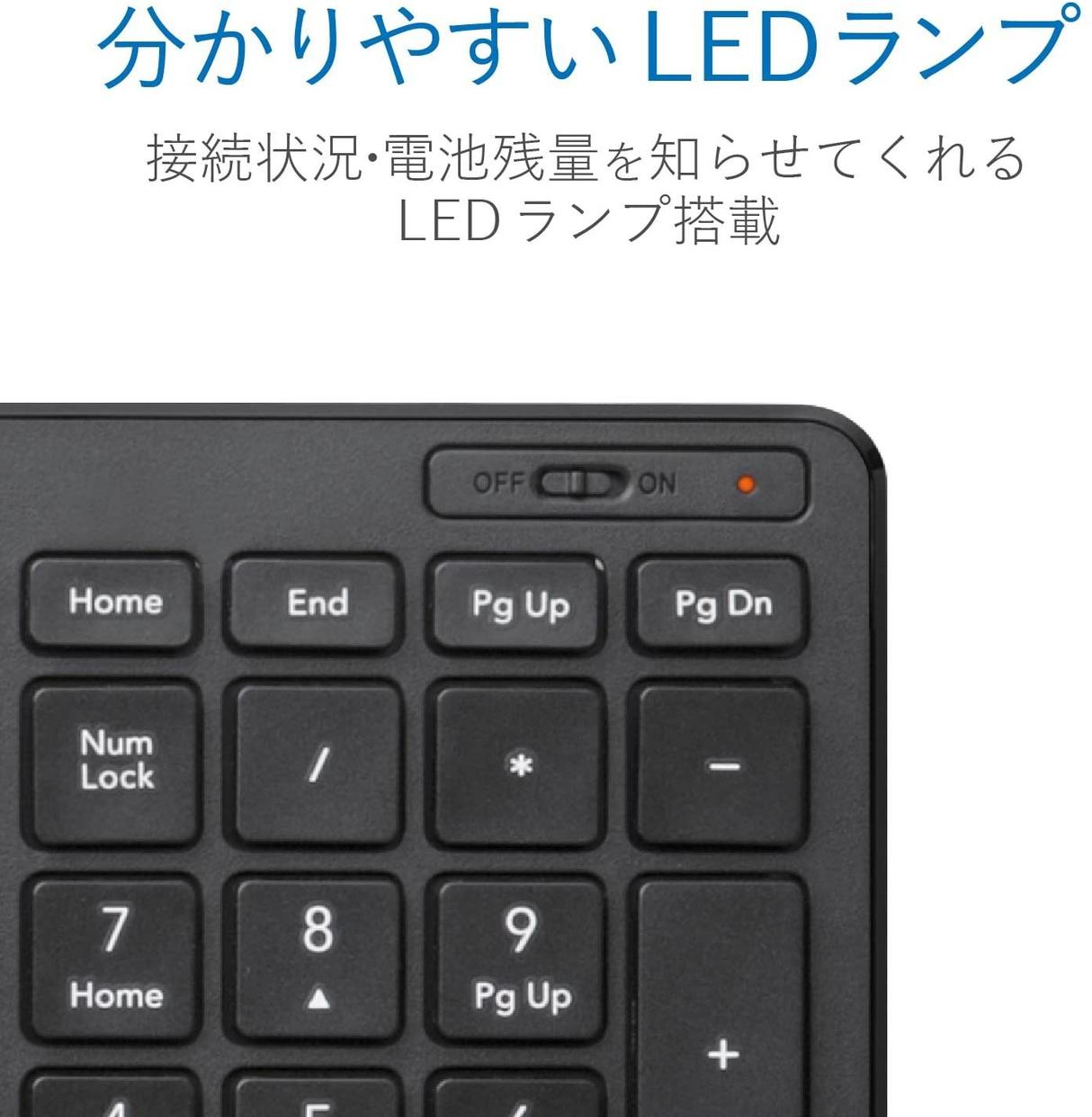 ELECOM(エレコム) 無線超薄型コンパクトキーボード TK-FDP099Tの商品画像6