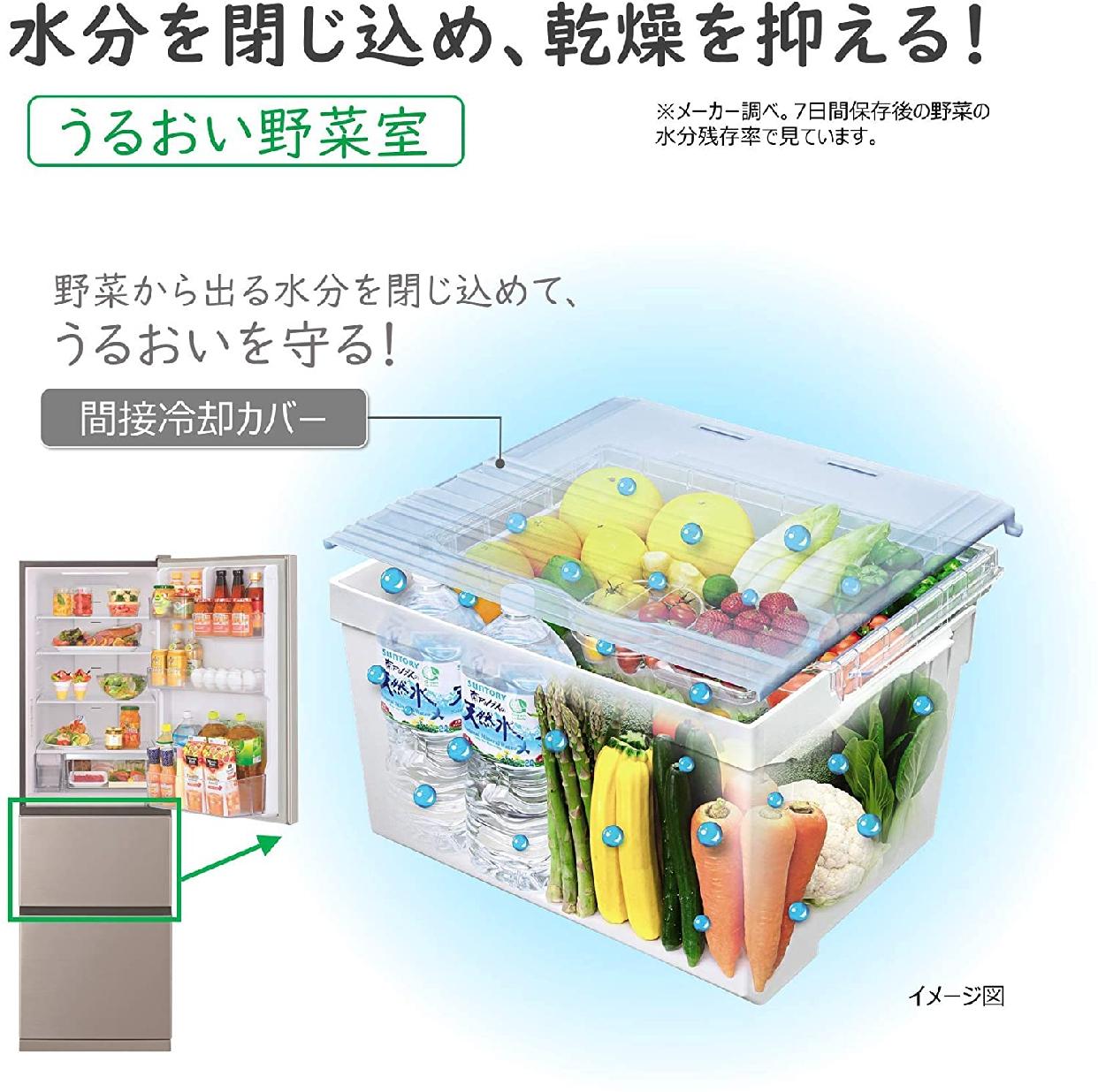 日立(ひたち)片開き3ドア Vタイプ/まんなか野菜 R-V32KVの商品画像4