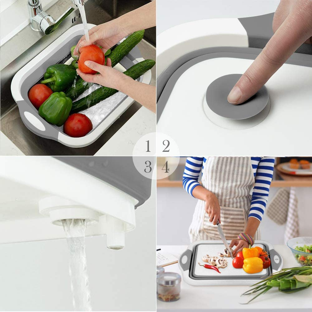QIMHUI(キュイムフイ) 洗い桶 折りたたみ 8.5L グレーの商品画像6