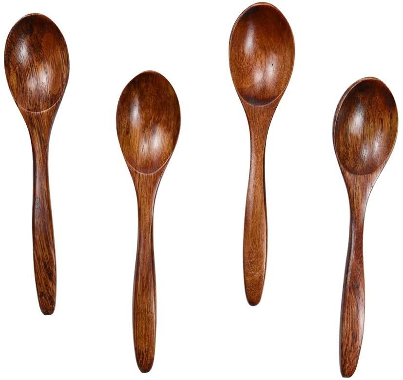 HTB(エイチティービー) 天然木製スプーン 4本セットの商品画像