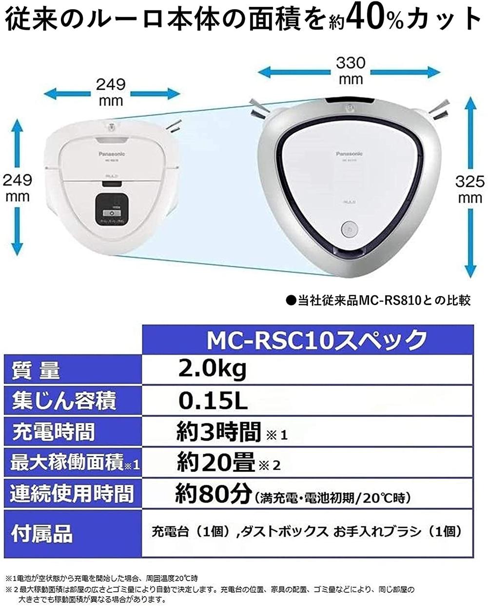 Panasonic(パナソニック) ルーロ ミニ MC-RSC10の商品画像5