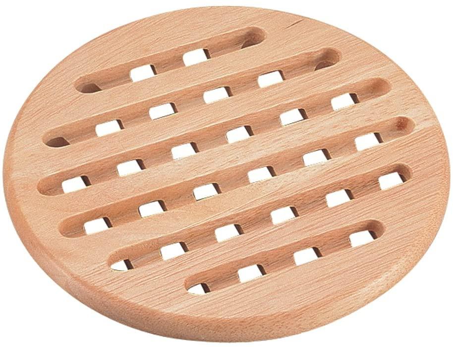 パール金属(PEARL) 木製 鍋敷き 丸型 フレア H-3658の商品画像