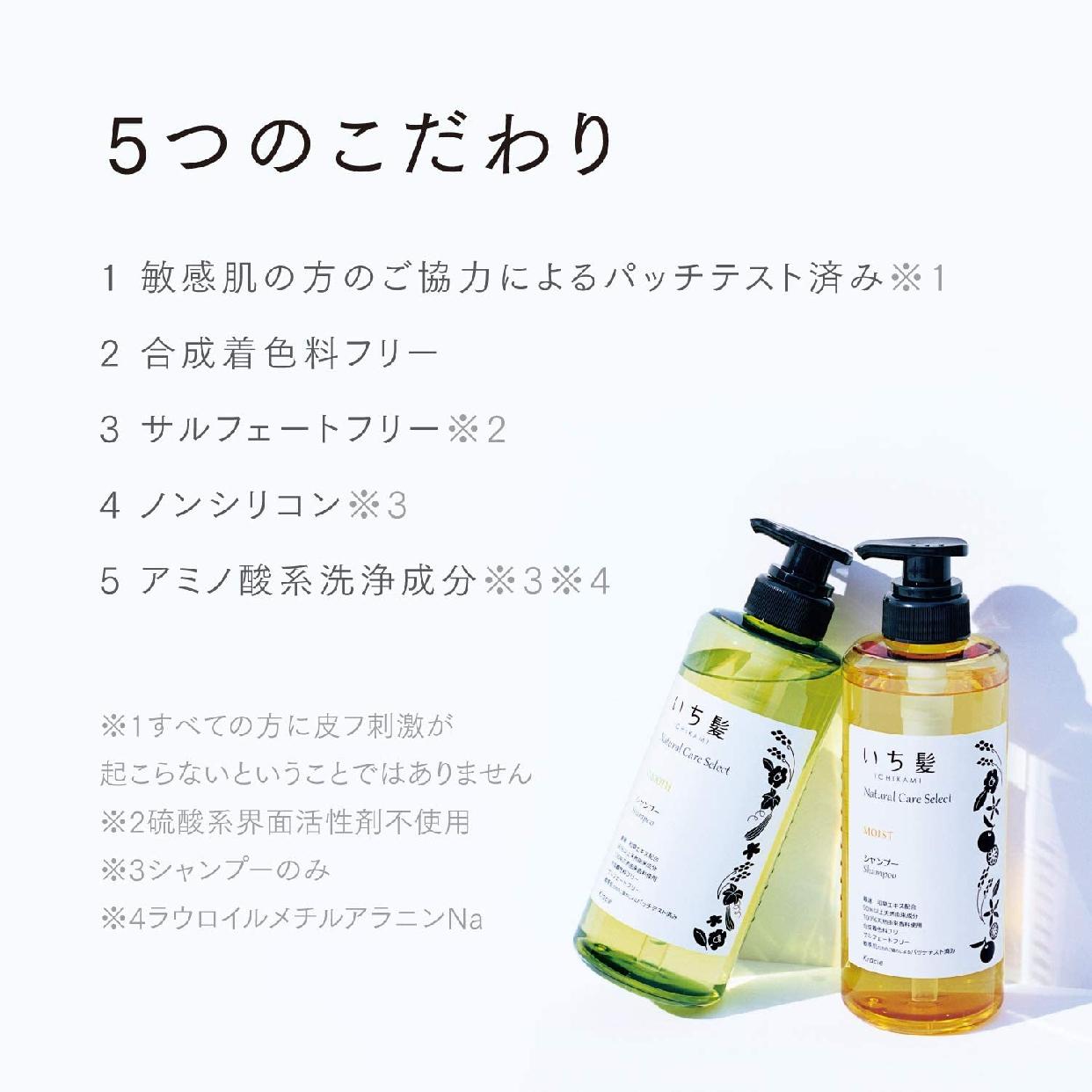 いち髪(いちかみ)ナチュラルケアセレクト スムース シャンプーの商品画像4