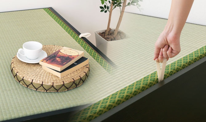 interior office one(インテリアオフィスワン) 天然い草張り大収納ベッドの商品画像7