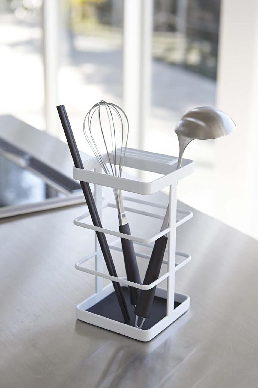 山崎実業(Yamazaki) キッチンツール&ナイフスタンド タワー ホワイト 3000の商品画像5